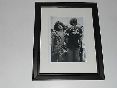"Framed Mick Jagger ""Who the F--- is"" 1972 Print Rolling Stones Tour 14"" x 17"""
