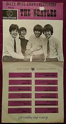 "The Beatles ""dizzy Miss Lizzy"" Netherlands Orig. Ps 1965 Hhr 138"