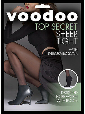 Voodoo Top Secret For Boots Sheer Tight With Ankle Sock 15D