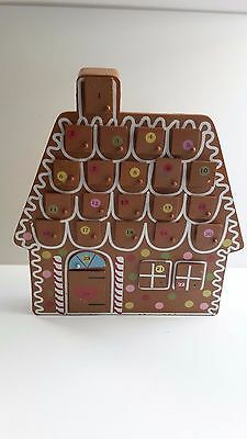 CHRISTMAS DECORATION WOODEN HOUSE ADVENT CALENDER with DRAWERS