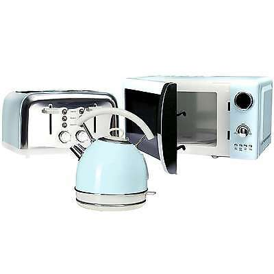 NEW! Duck Egg Kettle 4 Slice Toaster and Microwave Kitchen Luxury Set Aid Retro