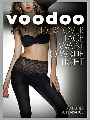 Voodoo Fashion Undercover Lace Waist Opaque Tight 70D