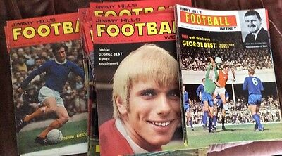 Jimmy Hill's Football Weekly Magazine - 1967 - 1970 - Various Copies