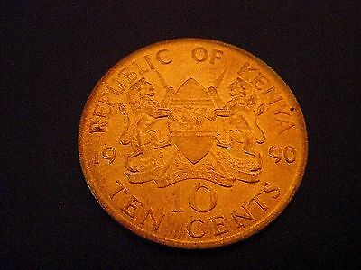 1990 Kenya  10 Cent - USED COIN - ID:4663