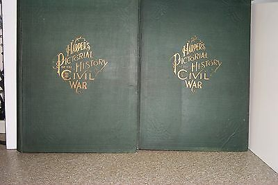1894 Harper's Pictorial History Of The Civil War By Guernsey & Alden In 2 Volume