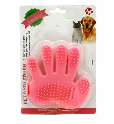 Pet Deshedding bath Brush Glove Dog & Cat Hair Massage Grooming Groomer Optimal