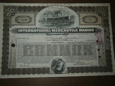 1918 International Mercantile Marine Liner Titanic White Star Share Scripophily