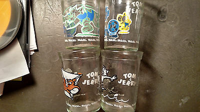 Tom and Jerry 4 Welchs jelly glasses 1990-91