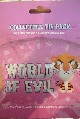 Disney World of Evil Mystery Collection Pin Pack Contains 5 Pins