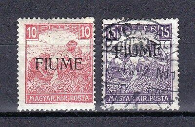 FIUME - SCOTT 1a, 2 - SELDOM OFFERED - RARE - LOOK!