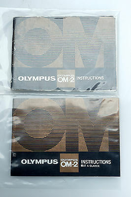 Olympus OM-2 English Instructions Manual + At a Glance Operating Guide Book