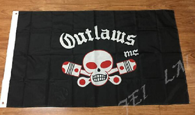 Outlaws Motorcycle club Flag 3 by 5