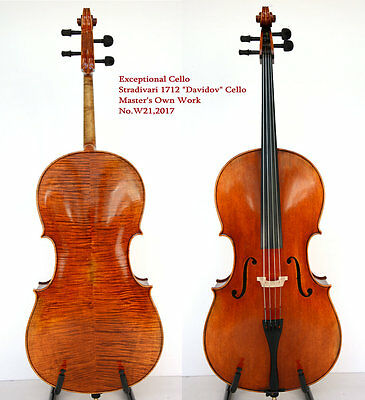 Exceptional Cello!Exceptional Tone!200-y Old Spruce!Master's Own Work!No.W21