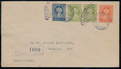 wb55 Mexico Revolution Cover Mix Transitorio Hermosillo > Nogales SON Mar 1914