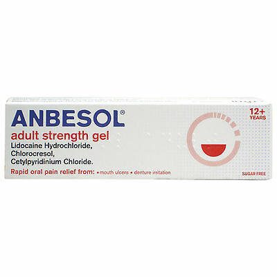 Anbesol Adult Strength Gel 10g | Relief from Mouth Ulcers & Denture Irritation