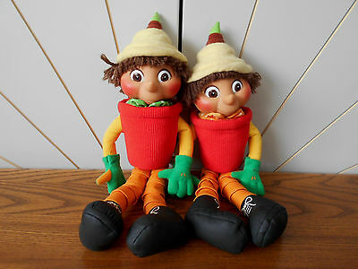 BILL & BEN THE FLOWERPOT MEN character soft toy with hard heads HASBRO/BBC 2000