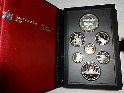 Royal Canadian Mint 1985 Proof Set With Silver Dollar