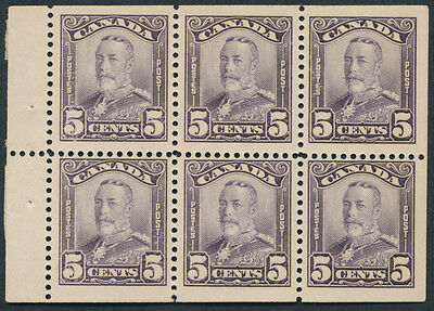 Canada #153a 5c Scroll Issue Booklet Pane, F-VF NH