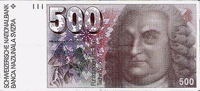 500 Francs Switzerland/Suisse VF+ 1976 Swiss BANKNOTE Pick 58