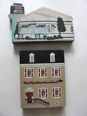 The Cats Meow Holiday Wood Village signed Faline - Route 66 - 1998 - 2 pieces