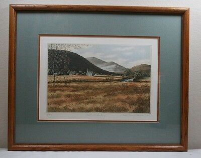"Kathleen Cantin ""Quiet Sunday"" Limited Edition Etching Signed, Numbered 74/250"