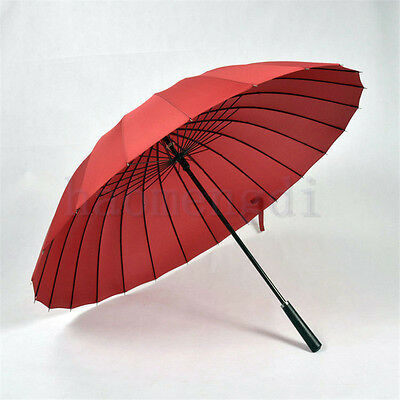 Unisex Umbrella Anti-uv Big Skeleton Straight Shank Umbrella Windproof Fashion