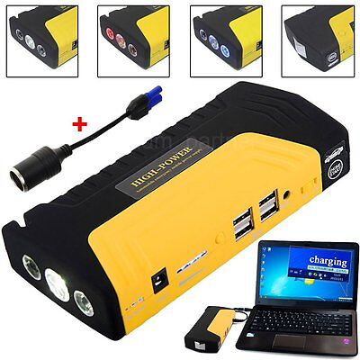 68800MAh 4USB Pocket Diesel Car Jump Starter for Charger Battery Power Bank UK