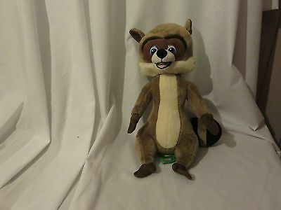 "14"" cute soft rj raccoon from over the hedge gosh plush doll"