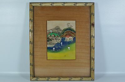 Fine Old China Chinese Hand Painted Watercolor Painting Scholar Art