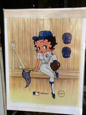 Betty Boop Chicago Cubs Ltd Edition # 456 / 500 Cel