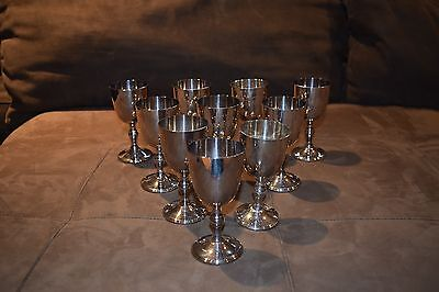 WM.A. Rogers Silver Plated Copper Goblets Made in Canada