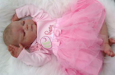 """Reborn Doll Kit Libby Cindy Musgrove Unpainted Approx 22""""  Make your own baby"""