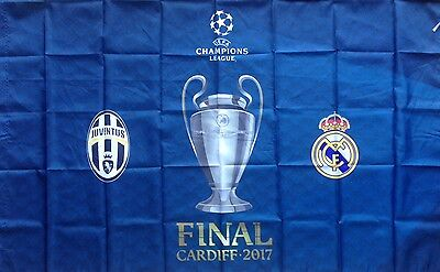 2017 JUVENTUS v REAL MADRID CHAMPIONS LEAGUE FINAL BIG FLAG, NEVER USED
