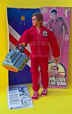 (E) SIX MILLION DOLLAR MAN FIGURE - Boxed with Insert - 1975 Kenner  Bionic SMDM
