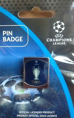 2017 JUVENTUS v REAL MADRID CHAMPIONS LEAGUE FINAL OFFICIAL PIN STILL SEALED