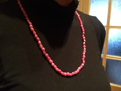 Vintage plastic beads necklaces