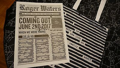 Roger Waters: Tote bag + Newspaper 2017 - Is This The Life We Really Want