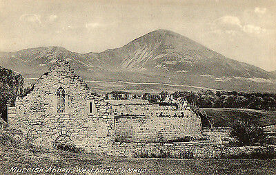 MURRISK ABBEY WESTPORT CO MAYO IRELAND POSTCARD Pub; by GIBBONS FANCY WAREHOUSE