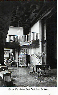 Entrance Hall Ashford Castle Hotel Cong Co. Mayo Ireland Rp Irish Postcard