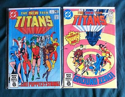 The New Teen Titans #9 & 10 2nd Cameo & Full App. Of Death stroke