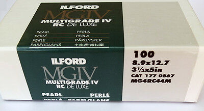 Ilford Multigrade IVRC De Luxe Pearl Black & White 8.9cm x 12.7cm 100 sheets