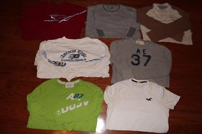 Lot Of 7 American Eagle T Shirts Graphic Tees Hollister Aero A&f Express All Xl