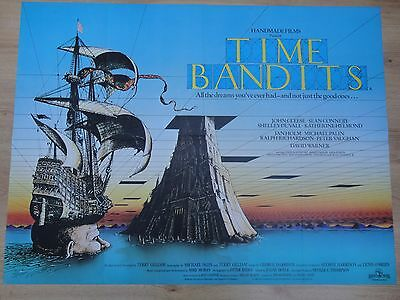 Original Uk.quad Poster / Time Bandits / Excellent Folded Condition.