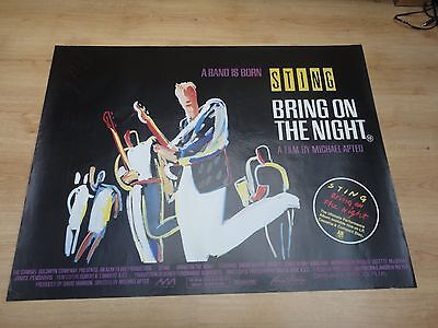 Sting/ Bring On The Night Original Uk Quad /very Rare Seldom Seen Poster.