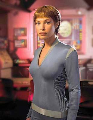 1997 STAR TREK: ENTERPRISE Jolene Blalock as T'Pol blue uniform 8x10 portrait