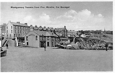 MONTGOMERY TERRACE FROM PIER MOVILLE CO. DONEGAL IRELAND POSTCARD for S. COOKE
