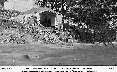 THE DISASTROUS FLOODS AT BRAY WICKLOW IRELAND AUGUST 25th 1905 POSTCARD
