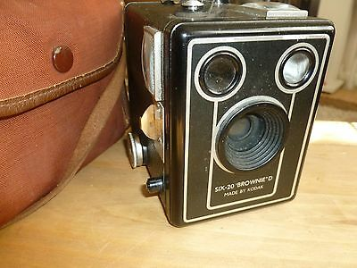 Camera, six-20' Brownie' D,  Made by Kodak..
