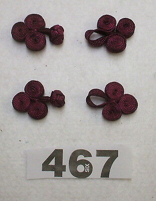 2 pairs of PLUM Frog fasteners [467] Closurers Haberdashery item