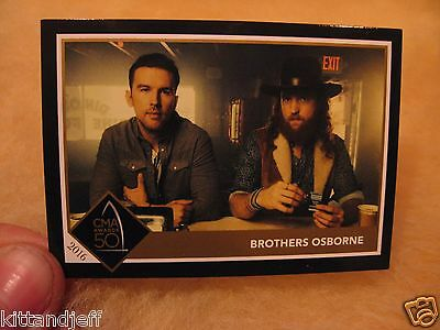 Rare CMA NA of Y Nominee Brothers Osborne collector promo card It Ain't My Fault